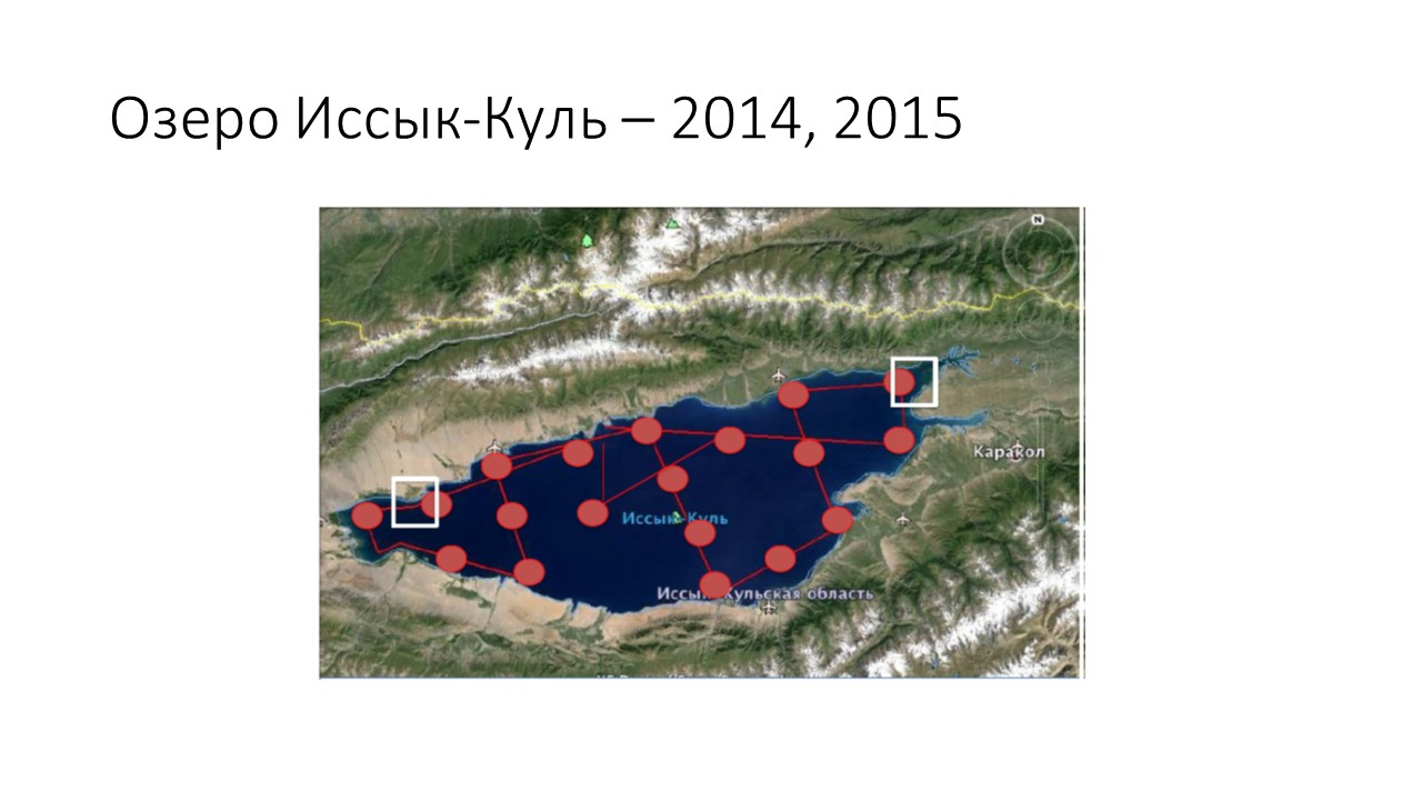 Coastal Processes and Land-Sea Exchanges group. Issyk Kul: 2014, 2015 expeditions